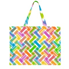 Abstract Pattern Colorful Wallpaper Background Large Tote Bag