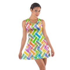 Abstract Pattern Colorful Wallpaper Background Cotton Racerback Dress