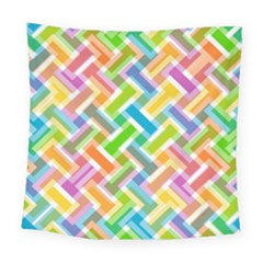 Abstract Pattern Colorful Wallpaper Background Square Tapestry (large)
