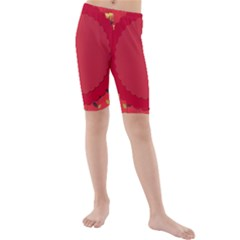 Floral Roses Pattern Background Seamless Kids  Mid Length Swim Shorts