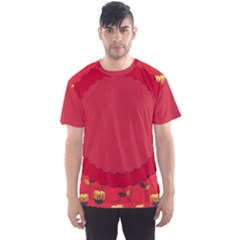 Floral Roses Pattern Background Seamless Men s Sport Mesh Tee