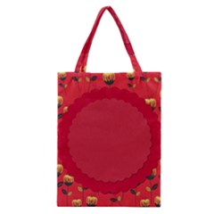Floral Roses Pattern Background Seamless Classic Tote Bag