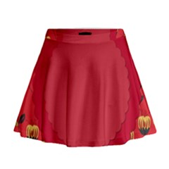 Floral Roses Pattern Background Seamless Mini Flare Skirt
