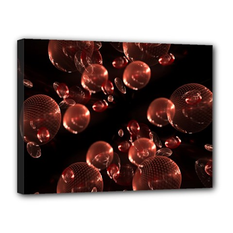 Fractal Chocolate Balls On Black Background Canvas 16  X 12