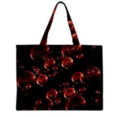 Fractal Chocolate Balls On Black Background Zipper Mini Tote Bag