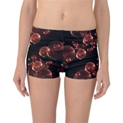 Fractal Chocolate Balls On Black Background Boyleg Bikini Bottoms