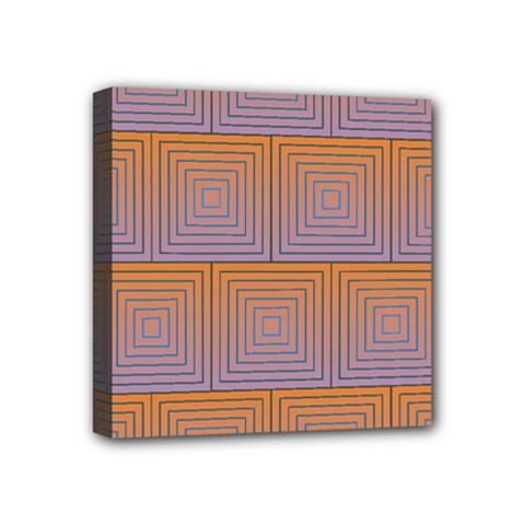 Brick Wall Squared Concentric Squares Mini Canvas 4  X 4