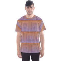 Brick Wall Squared Concentric Squares Men s Sport Mesh Tee