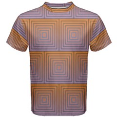 Brick Wall Squared Concentric Squares Men s Cotton Tee