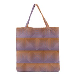 Brick Wall Squared Concentric Squares Grocery Tote Bag