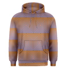 Brick Wall Squared Concentric Squares Men s Pullover Hoodie