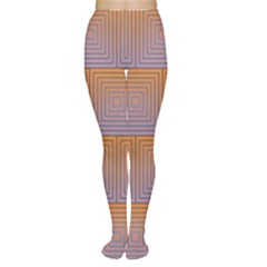 Brick Wall Squared Concentric Squares Women s Tights