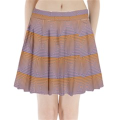 Brick Wall Squared Concentric Squares Pleated Mini Skirt