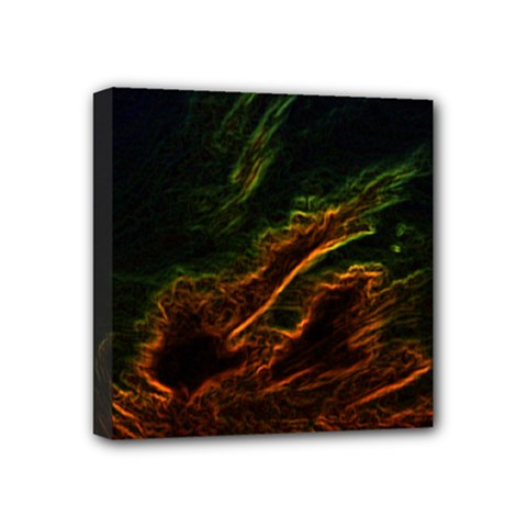 Abstract Glowing Edges Mini Canvas 4  X 4