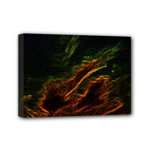 Abstract Glowing Edges Mini Canvas 7  x 5