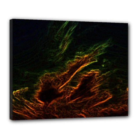 Abstract Glowing Edges Canvas 20  X 16