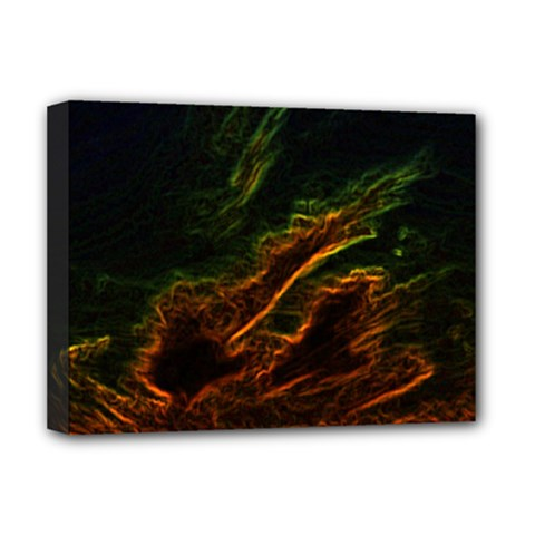 Abstract Glowing Edges Deluxe Canvas 16  X 12