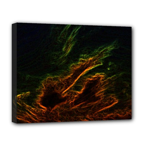 Abstract Glowing Edges Deluxe Canvas 20  X 16