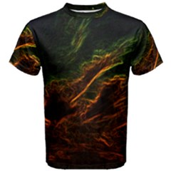 Abstract Glowing Edges Men s Cotton Tee
