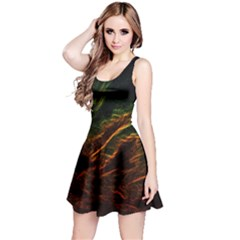 Abstract Glowing Edges Reversible Sleeveless Dress