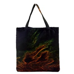 Abstract Glowing Edges Grocery Tote Bag