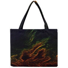 Abstract Glowing Edges Mini Tote Bag