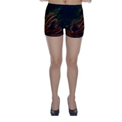 Abstract Glowing Edges Skinny Shorts