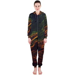 Abstract Glowing Edges Hooded Jumpsuit (Ladies)