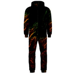 Abstract Glowing Edges Hooded Jumpsuit (Men)