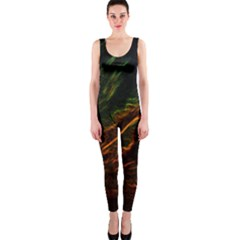 Abstract Glowing Edges Onepiece Catsuit