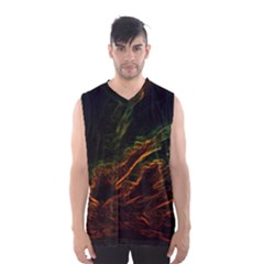 Abstract Glowing Edges Men s Basketball Tank Top