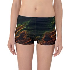 Abstract Glowing Edges Boyleg Bikini Bottoms