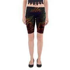 Abstract Glowing Edges Yoga Cropped Leggings