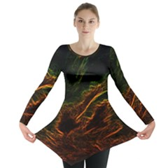 Abstract Glowing Edges Long Sleeve Tunic