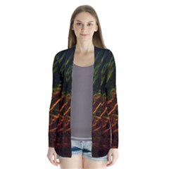 Abstract Glowing Edges Cardigans