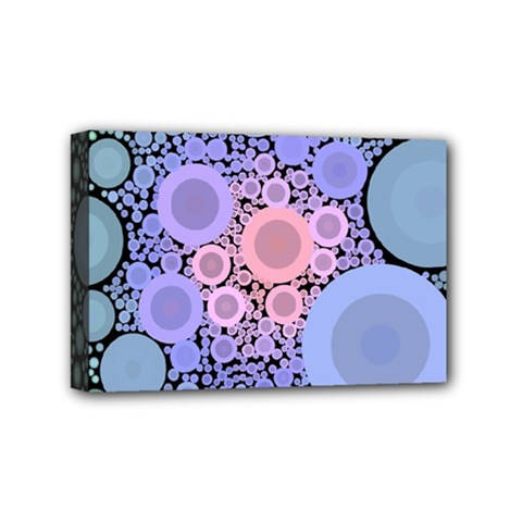 An Abstract Background Consisting Of Pastel Colored Circle Mini Canvas 6  x 4