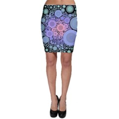 An Abstract Background Consisting Of Pastel Colored Circle Bodycon Skirt