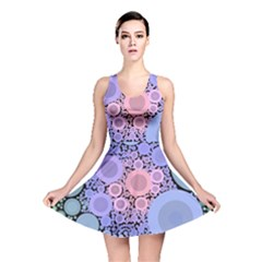 An Abstract Background Consisting Of Pastel Colored Circle Reversible Skater Dress