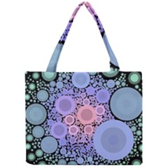An Abstract Background Consisting Of Pastel Colored Circle Mini Tote Bag
