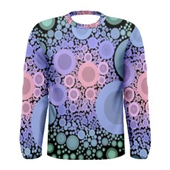 An Abstract Background Consisting Of Pastel Colored Circle Men s Long Sleeve Tee