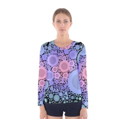 An Abstract Background Consisting Of Pastel Colored Circle Women s Long Sleeve Tee