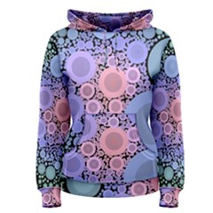 An Abstract Background Consisting Of Pastel Colored Circle Women s Pullover Hoodie