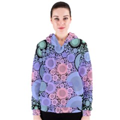 An Abstract Background Consisting Of Pastel Colored Circle Women s Zipper Hoodie