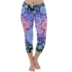 An Abstract Background Consisting Of Pastel Colored Circle Capri Winter Leggings