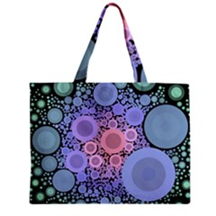 An Abstract Background Consisting Of Pastel Colored Circle Zipper Mini Tote Bag