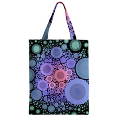 An Abstract Background Consisting Of Pastel Colored Circle Zipper Classic Tote Bag
