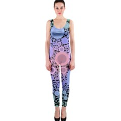 An Abstract Background Consisting Of Pastel Colored Circle OnePiece Catsuit