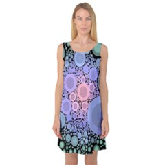 An Abstract Background Consisting Of Pastel Colored Circle Sleeveless Satin Nightdress