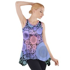 An Abstract Background Consisting Of Pastel Colored Circle Side Drop Tank Tunic