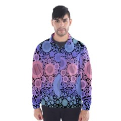 An Abstract Background Consisting Of Pastel Colored Circle Wind Breaker (Men)